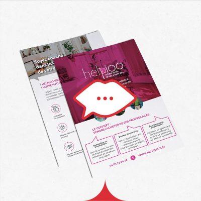 Bisous Agency réalise tes flyers personnalisables!